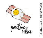 positive vibes print. cute... | Shutterstock .eps vector #1055426660