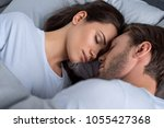 bearded man and attractive...   Shutterstock . vector #1055427368