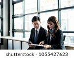 business people meeting...   Shutterstock . vector #1055427623
