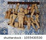 wax votives  head  foot  leg ...   Shutterstock . vector #1055430530