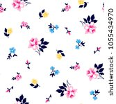 roses pattern with small... | Shutterstock .eps vector #1055434970