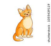 sketch cute cat animal sitting  ... | Shutterstock .eps vector #1055439119