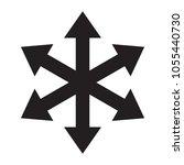 multiple arrow direction icon.... | Shutterstock .eps vector #1055440730