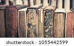 collection of old  aged books... | Shutterstock . vector #1055442599