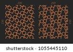 laser cutting set. woodcut... | Shutterstock .eps vector #1055445110