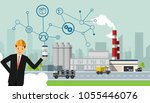 smart factory vector... | Shutterstock .eps vector #1055446076