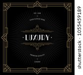 vintage invitation in art deco. ... | Shutterstock .eps vector #1055459189
