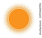 sun icon. halftone orange... | Shutterstock .eps vector #1055460596