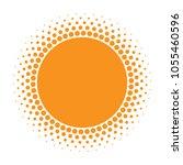 sun icon. halftone orange... | Shutterstock .eps vector #1055460596