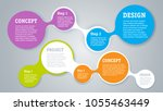 rainbow color infographics step ... | Shutterstock .eps vector #1055463449