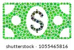 banknote mosaic of dots in... | Shutterstock .eps vector #1055465816