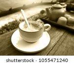 illustration sepia color tone... | Shutterstock . vector #1055471240