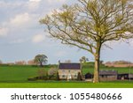 english country cottage... | Shutterstock . vector #1055480666