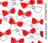 bow pattern background ... | Shutterstock .eps vector #1055487524