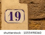 numbered tile on a wall | Shutterstock . vector #1055498360