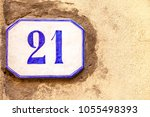 numbered tile on a wall   Shutterstock . vector #1055498393