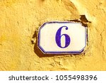 numbered tile on a wall   Shutterstock . vector #1055498396