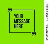 innovative vector quotation... | Shutterstock .eps vector #1055511188