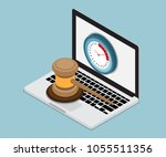 online auction concept with... | Shutterstock .eps vector #1055511356