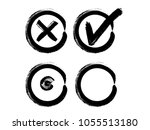 vector grunge hand drawn check... | Shutterstock .eps vector #1055513180