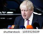 boris johnson  uk   s secretary ... | Shutterstock . vector #1055525039