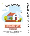 housewarming party invitation... | Shutterstock .eps vector #1055527886