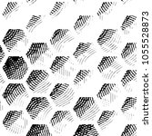 grunge halftone black and white ... | Shutterstock . vector #1055528873