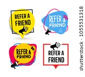 refer a friend. set of badge... | Shutterstock .eps vector #1055531318