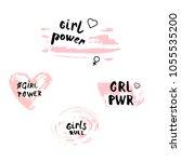 girl power quotes set. vector...   Shutterstock .eps vector #1055535200