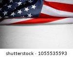 american flag background for...   Shutterstock . vector #1055535593