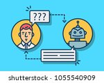 chatbot concept. vector... | Shutterstock .eps vector #1055540909