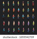 set of isometric 3d people in...   Shutterstock .eps vector #1055542709