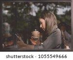 beautiful asian businesswoman... | Shutterstock . vector #1055549666