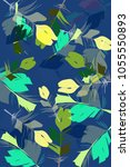 illustration of bird feather...   Shutterstock .eps vector #1055550893