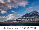 south east fjords  iceland  ... | Shutterstock . vector #1055550950