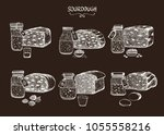 a set of six different types of ... | Shutterstock .eps vector #1055558216