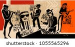 Cool Vintage Vector Of Jazz...