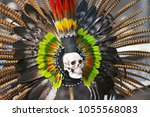 feathers from the headdress of... | Shutterstock . vector #1055568083