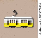vector illustration of tram.... | Shutterstock .eps vector #1055572466