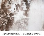 water stained on the old wall... | Shutterstock . vector #1055574998