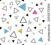 seamless colorful glitter... | Shutterstock .eps vector #1055575304