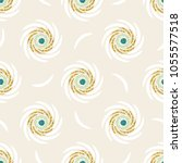 seamless gold glitter flower... | Shutterstock .eps vector #1055577518
