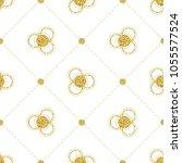 seamless gold glitter flower... | Shutterstock .eps vector #1055577524