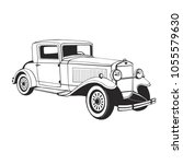 classic car coupe  vector art ... | Shutterstock .eps vector #1055579630