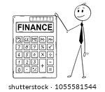 cartoon stick man drawing... | Shutterstock .eps vector #1055581544