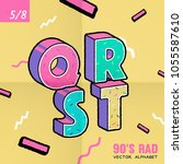 the 90's rad. 90's style vector ... | Shutterstock .eps vector #1055587610
