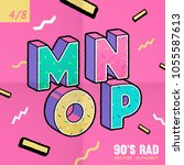 the 90's rad. 90's style vector ... | Shutterstock .eps vector #1055587613