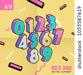 the 90's rad. 90's style vector ... | Shutterstock .eps vector #1055587619