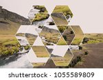composition of a mountain...   Shutterstock . vector #1055589809
