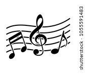 signs of a musical notation.... | Shutterstock .eps vector #1055591483